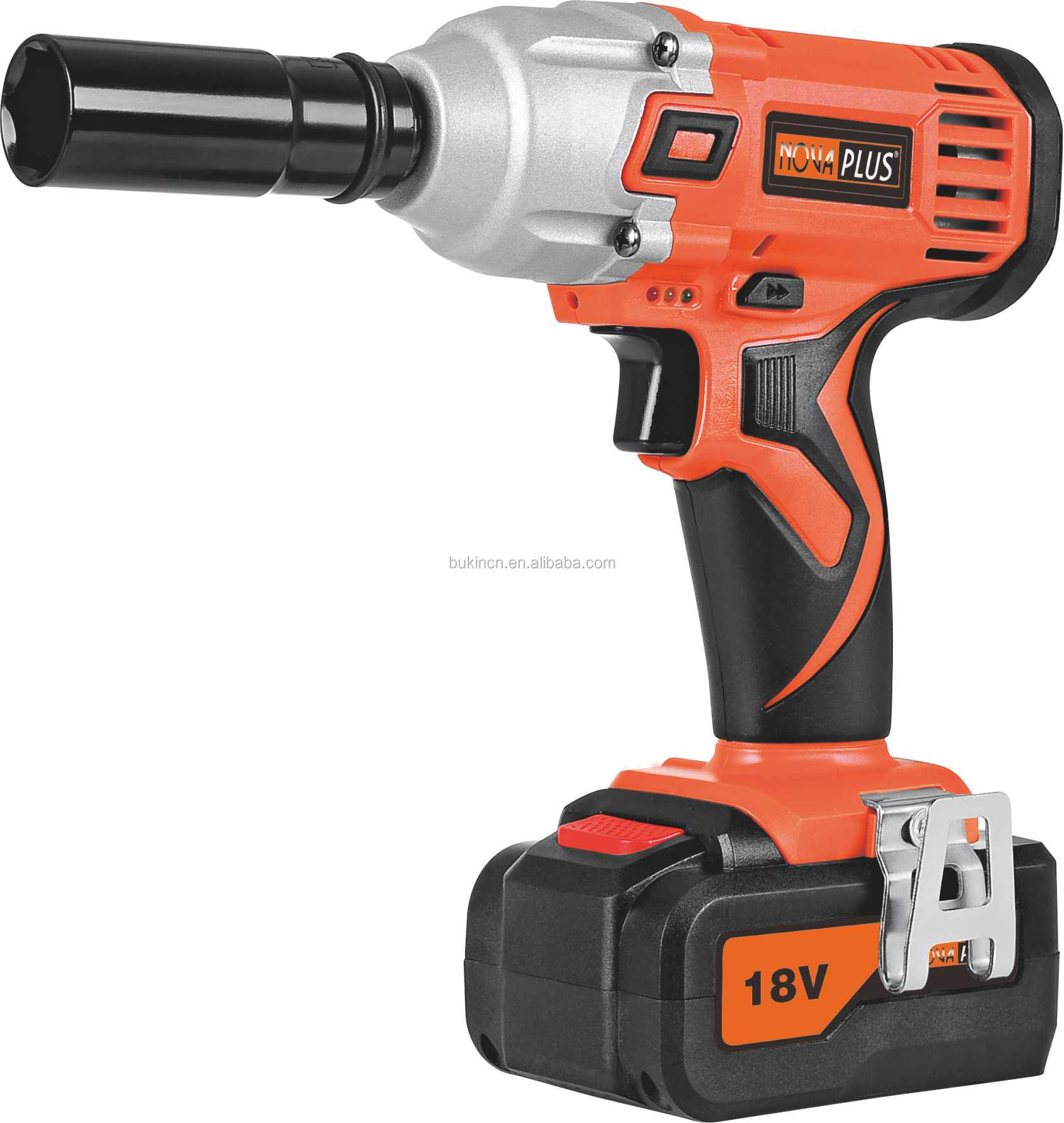 Cordless Electric Impact Wrench Applied To Tightening Nuts