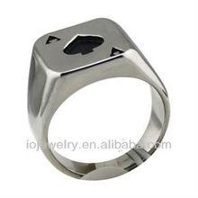 Poker pattern ring stainless steel