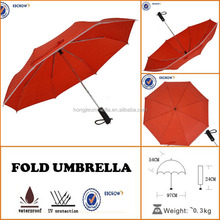 factory price automatic red telescopic umbrella for windproof