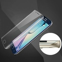 best quality full cover curved tempered glass screen protector for Samsung s6 edge cell phone