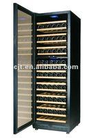 168 Bottles Full glass door compressor Wine cooler