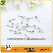 NR01016 stainless steel 16g flower nose ring piercing