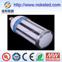 milky or transparent PC E27 Garden used corn led lamp e40 100 watt
