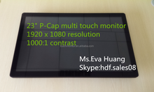 HDF 16:9 , 1920 x 1080 resolution, 23 inch P-Cap touch monitor for information kiosk