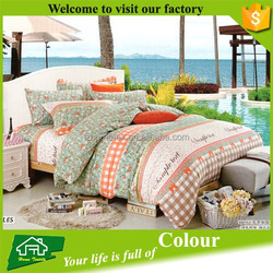 China manufactures cotton fabric custom print bed cover