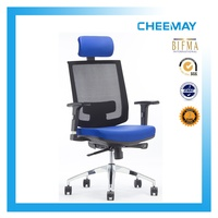 Multiple functions height adjustable backrest office chair with synchronized mechanism