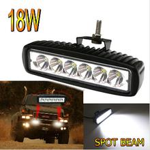 6inch 18W LED Work Light Bar,18w led work headlight Flood Driving Offroad lighting 4WD 6'' 4x4 led work light
