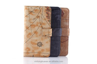 Wholesale Map Stand Wallet PU Leather Case For Samsung Galaxy S6