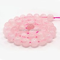10mm Pink Round Bulk Natural Rose Quartz Beads Strings