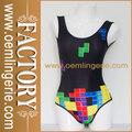 de colores de moda sexy patrón de una sola pieza traje de baño bikini
