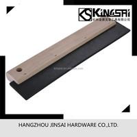 rubber blade wood handle scraper