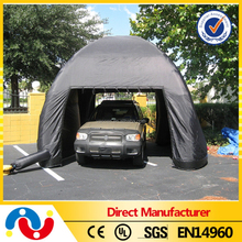 PVC tarpaulin portable car garage shelter, inflatable car shelter garage tent, portable folding car garage tent