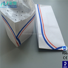 Food Industry Blue/Red stripe Disposable Paper Forage Cap