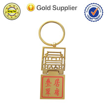 new design metal keychain with antique feeling for souvenir