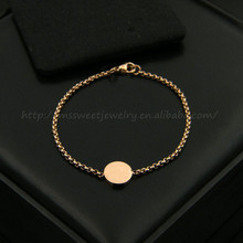 stainless steel jewelry rose gold bracelet women accessories china