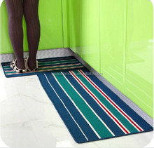 Anti-slip kitchen mat strips pattern floor rugs and carpets