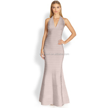 Halter V-Neckline Front Short Back Long Backless Sexy Evening Dresses 2012