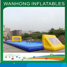 Best sale giant 0.6mm PVC inflatable water game inflatable football field