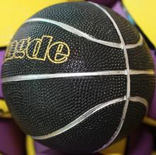 5 inch diameter size 1 rubber black mini basketball
