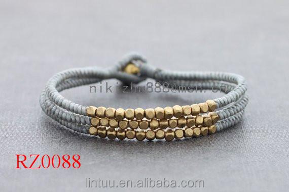 New sản phẩm phong cách brass chuông handmade dệt Hợp Kim bạc hạt bán buôn paracord khóa Vòng Đeo Tay
