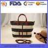 Cotton Canvas Handbag Genuine Leather Cross Body Messenger Shoulder bag