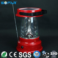 Rechargeable 5W led camping light with radio lantern marine solar powered led lanterns