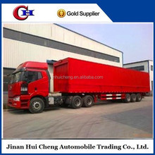 Attractive price two or three axles poultry livestock transport box trailer