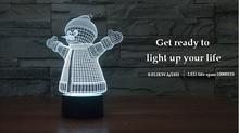 Crystal Led Light/Bedroom Night Lamp for Kids/ Snowwhite Lamp