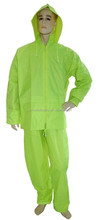 PVC Polyester 0.32mm 0.35mm Yellow Rain Coat Long Rain Cover Rubbered Hooded Raincoat