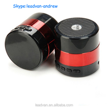 Red Plastic And Aluminum Alloy 3W Subwoofer SDY001 Sardine Bluetooth Speaker