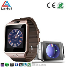 2015 New smartwatch DZ09 bluetooth smart watch mobile phone dual SIM support android and ios system