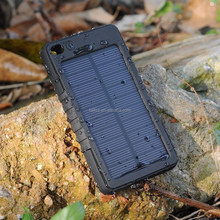 Portable Newest Solar Waterproof USB Power Bank Charger 8000mAh