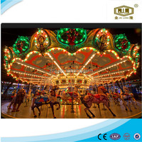 2015 latest park rides wood carousel factory price