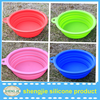 eco-friendly high quality silicone collapsible dog bowl