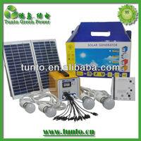 Small solar system, solar home lighting system 16W 12V12AH