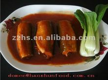 Canned mackerel fish in tomato sauce Fresh fish materials