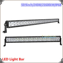 2015 CE Rohs double rows 240w 50inch spot combo led light bar export