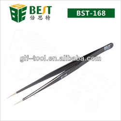 BEST-168 Professional precision stainless steel tweezers for mobile repair tools
