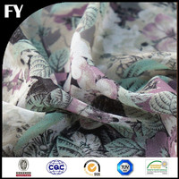 Custom new design high quality digital printed tencel cotton blend fabric