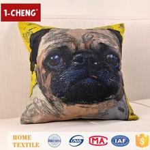 Creative Fashion Cute Dog Printed Designs Cushion Inflatable Lumbar Support Cushion Shanghai Cheap Home Sofa Cushion