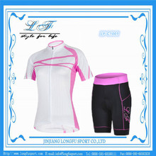girls new stylish oem specialized cheap sublimation cycling wear