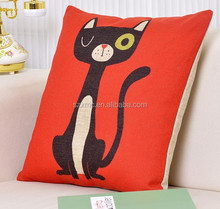 LOVELY CAT Digital Printed RED Cushion COVER