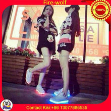 Battery Operated Color Changing Led Lights/LED luminous shoes for dancer manufactory