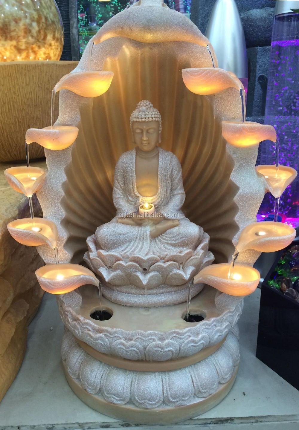 fontaine dintrieur sculpture led lumire table religion bouddha mini fontaine deau