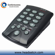 Professional call center communication dial pad headset telephone with rj11 plug cable CHT-800