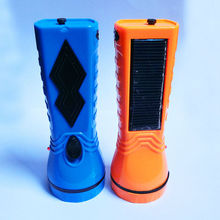 GG009 Solar Powered Led flashlight rechargeable Led torch