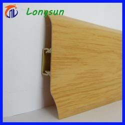 New tech rubber edge design pvc skirting board exporting