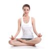 Perspiration and Breathable Women Yogawear in White color