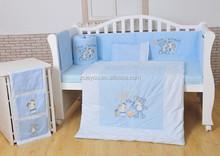 embroidery baby bedding set crib bedding 100% cotton Happy Bear