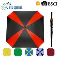 2 Colors Automatic Quality Square Windproof Unique Golf Umbrella